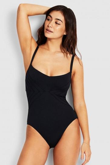 Pintucked בגד ים מחטב סקסי לחזה גדול קאפ DD/E