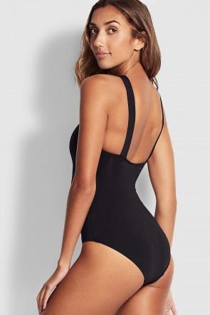Active בגד ים שלם עם צוואר גבוה מיוחד לשחיה