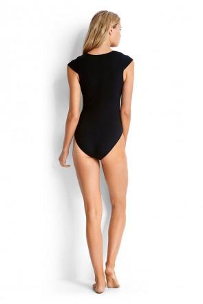 Active Swim Cap Sleeve - בגד ים שלם עם שרוולונים
