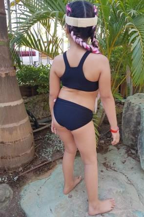 Summer ביקיני ספורטיבי צוואר גבוה לילדות ולנערות