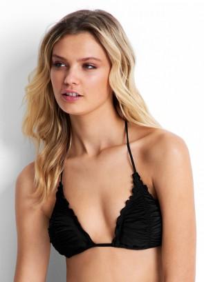 Shimmer בגד ים ביקיני עליון משולשים שחור