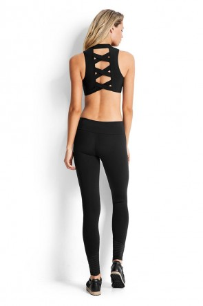 Cross Back Top with Essentials Moto Legging Seafolly