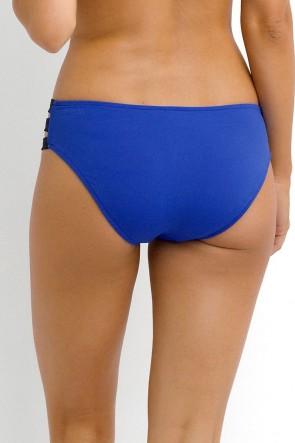 Block Party – תחתון ביקיני עם רצועות בצבע כחול Hipster