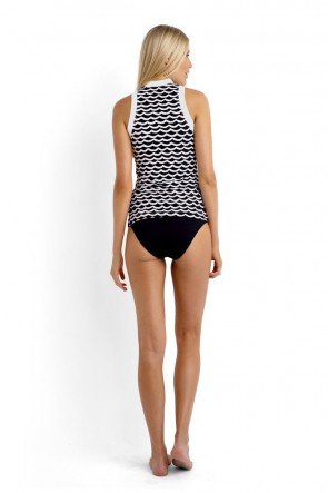 Seafolly Rash Vest - Tidal Wave with Mini Hipster Bikini Pant