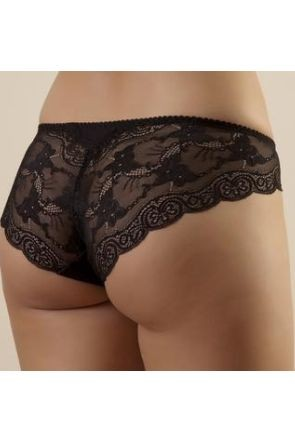 Snejanna briefs Black with a low waistline and lace back-piece