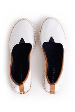 נעלי חוף אספדריל לבנות