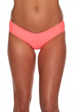 Hot Pants - ביקיני חלק תחתון בצבע קורל זוהר