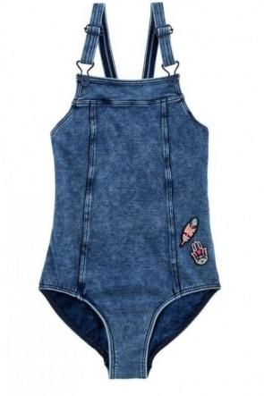 Moonchild בגד ים שלם גינס מהמם לנערות ולילדות