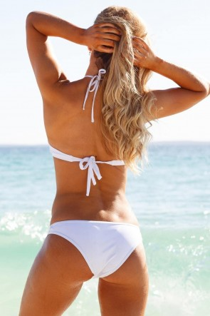 WILDE FOX HALTERNECK BIKINI SET WHITE