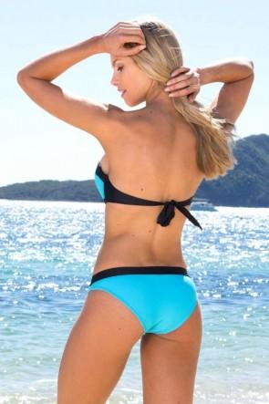 Tropez - ביקיני חלק תחתון שמיים עם פס שחור