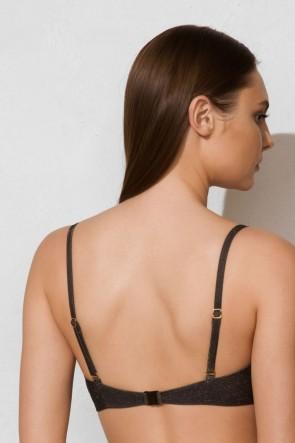 Goldi ביקיני עליון סטרפלס שחור עם נקודות מבריק V33733