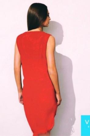 שמלת חוף Charm אדומה מבד רשת