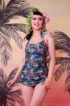 Romises Jungle בגד ים שלם, מחטב בגזרה חצאית