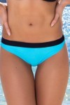 Tropez - ביקיני חלק תחתון בצבע שמיים עם פס שחור